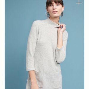 Anthropologie (Moth) Gray Mockneck Fleece Dress